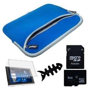 com High Quality Blue Dual Pocket Carrying bag + Clear Crystal Screen
