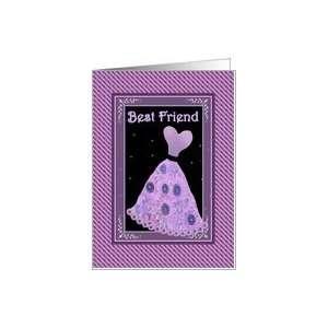 BEST FRIEND Bridesmaid   Purple Gown Card