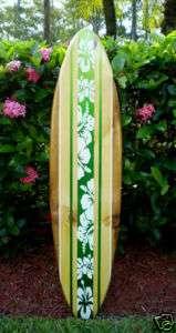 Green Ocean Surfboard Wall Art Original Beach Wood Hot
