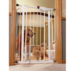 Carlson Extra Tall Walk Thru Gate with Pet Door, 4