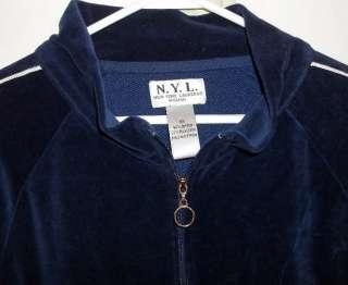 NYL New York Laundry NAVY BLUE Elegant VELOUR velvet LIGHT Jacket 3X