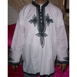 VINTAGE MOROCCAN MEN SHIRT WHITE LARGE Islamic Products