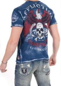 NEW MENS AFFLICTION EDDIE TROTTA T Shirt Sz XL X Large 1X
