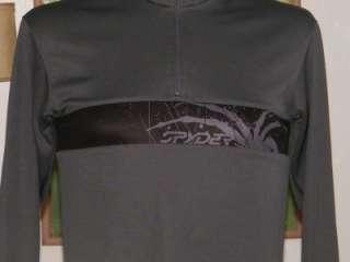 Mens SPYDER Athletic WEB GUSSETT Charcoal Gray & Black SHIRT Jacket