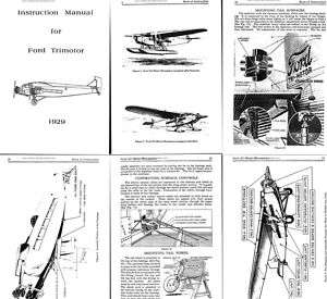 FORD TRIMOTOR TRI MOTOR MONOPLANE AIRCRAFT MANUAL ★