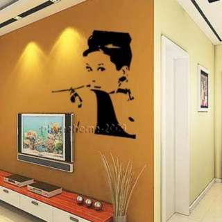 58*96CM Audrey Hepburn Wall Paper Art Sticker Decor Decal Sticker ML84