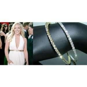 Ritzy Rhinestone Bangles Bracelets Silver Case Pack 3