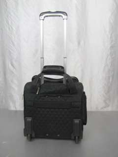 TRAVELON BLACK TRAVEL BAG ON WHEELS UNDER SEAT SIZE VERY NICE CARRY ON