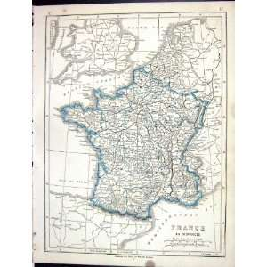 Lowry Antique Map 1853 Provinces France Bay Biscay