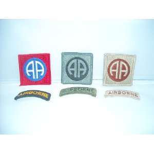 Set of 6 US Army SSI 82nd Airborne Division Patches & Tabs