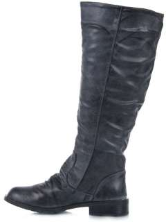 MADDEN GIRL G AVIA Women Knee High faux Leather Distressed Boot blue