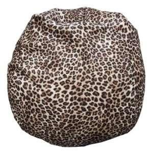 Bean Bag Boys Faux Suede MicroFibres Leopard Print Bean Bag