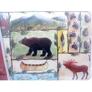 12 x 8 Bears, Bear Tracks, Moose, Moose Tracks: Kitchen & Dining