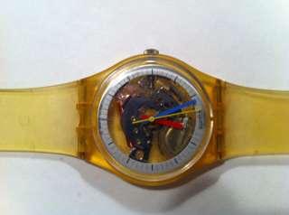 SWATCH Unisex Original Jelly Swiss Quartz Watch 1986 GK100 Very Rare