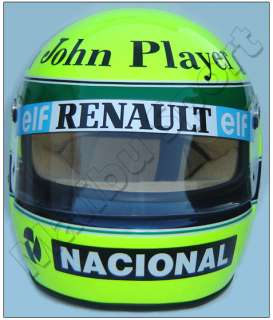 AYRTON SENNA 1985 NEW F1 LOTUS REPLICA HELMET SCALE 11