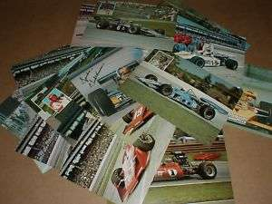vintage Indy 500 Auto Racing Postcard handout A J Foyt Rutherford NM