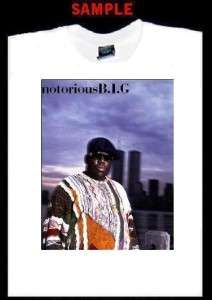 NOTORIOUS BIG CUSTOM T SHIRT TEE biggie smalls rap T116