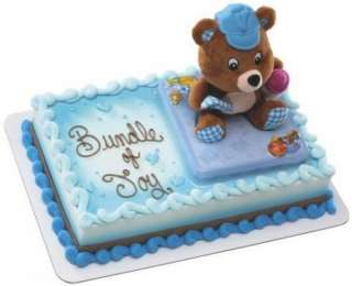 Baby Showers Baby Boy Bear Plush Cake Set ~ Create Your Own Cake