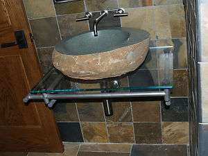 Custom Stainless steel wall mount table for glass top sink bowl