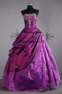 Formal Purple Quinceanera Dresses Prom Dress Ball Gowns US Size4 6 8