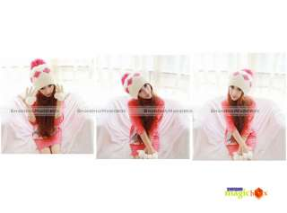 New Fashion Cute Big Ball Protect Ear Baggy Knit Wool Hat 11 Colors