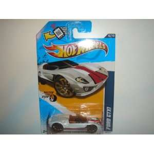 2012 Hot Wheels Faster Than Ever Ford GTX1 White #98/247 Toys & Games