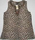 NWT Womens Harley Davidson Animal Print Waffle Tank Top Shirt Small