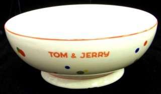 RARE Art Deco CZECHOSLOVAKIA Tom & Jerry PUNCH BOWL
