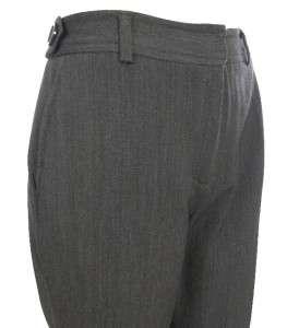Sutton Studio Womens Zip Front Dress Stretch Pants Brown   Charcoal