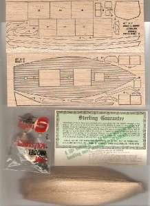 Sterling G7 Emma C. Berry Balsa Wood Model 2 Masted Schooner Rig