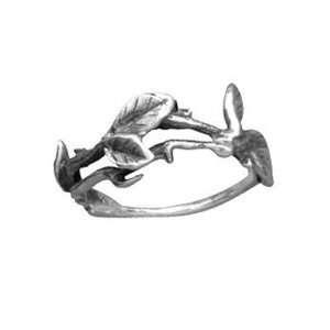 Vine Design Oxidized Sterling Silver Ring   Nature Inspired Jewelry