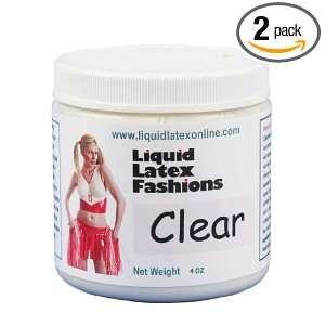 Liquid Latex Fashions Ammonia Free Body Paint, Clear, 4