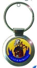 Scottish Piper BAGPIPES Round Metal KEYRING / Key Chain   Scotland
