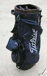 Titleist Stand Double Strap Carry Golf Bag Navy & White EUC