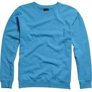 Fox Racing Mr. Crew Fleece Sweater   Small/Electric Blue Automotive