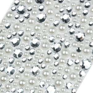 CLEAR WHITE RHINESTONES CRYSTAL PHONE BLING 3D STICKER Electronics