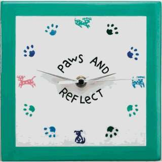 Dogs & Paws Reflect Clock   Pets Clock
