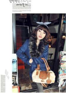 Women Girls Faux Fur Horn button Beige Clutch Shoulder Bag Shoppers