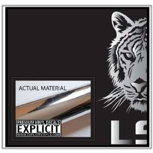 LSU Tigers Large Chrome Vinyl Decal