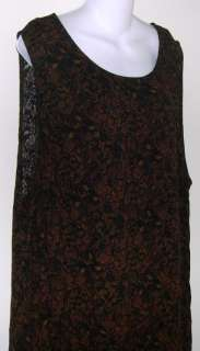 Special Thyme Ltd. brown black sleeveless dress 34