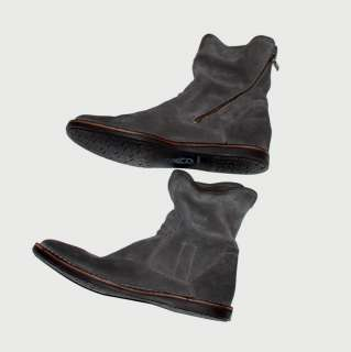 JOHN VARVATOS STAR USA BARRET SUEDE SLOUCH ANKLE BOOTS GREY