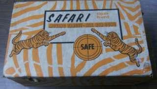 Safari Tiger Hunt Moving Target Game W Box Vintage Air Gun BB Daisy