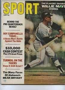 Sport June 1967 Willie Mays Bear Bryant MBX16