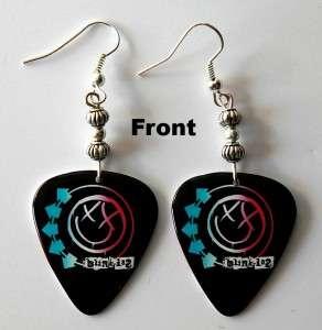 Blink 182 Guitar Pick Earrings Two Sided