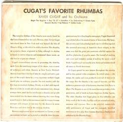 XAVIER CUGAT RUMBA ALBUM (2) 45 EP W/ART COVER 8 SONGS~
