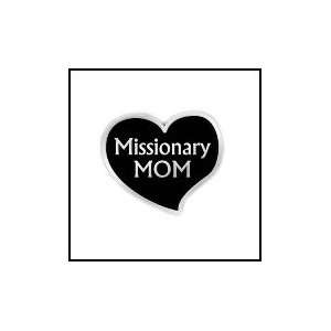 Lapel Pin LDS Missionary Mom in Black Velvet Gift Box: Jewelry