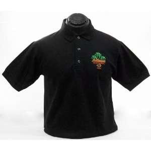 Maui Harley Davidson Mens Palm Polo Black Shirt (Small) Automotive