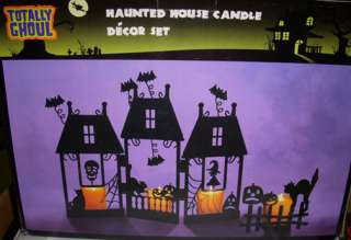 Haunted House Candle Décor Halloween Lights NIB