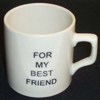 For My Best Friend Coffee Mug Cup Flip Middle Finger