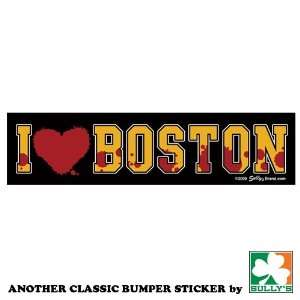 I Love Boston (Bloody Heart) Sticker Automotive